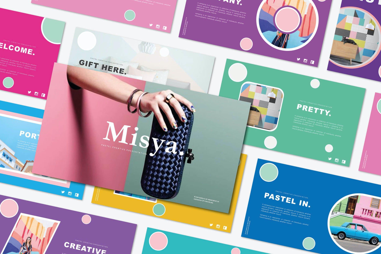 时尚多彩策划案图文排版设计演示文稿模板 Misya – Powerpoint Template插图