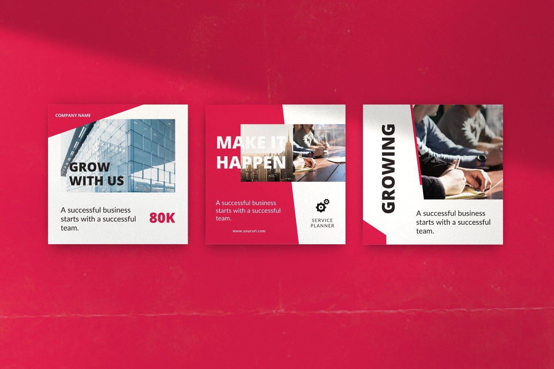时尚几何元素修饰品牌推广新媒体电商徽标模板 ROGUE – Business Social Media Brand插图(9)