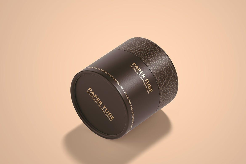 茶叶产品纸管包装罐设计展示贴图样机模板合集 Paper Tube Mockup Set 1插图(9)