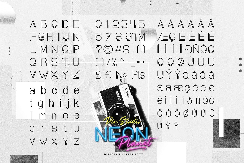 现代未来派手写英文字体素材 Neon Planet – Display Font Duo插图(8)