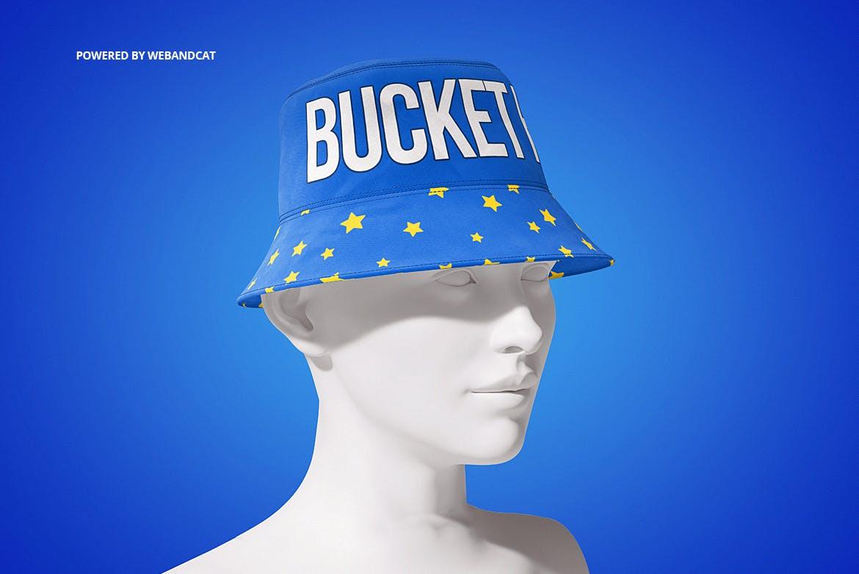 4款渔夫帽LOGO印花图案设计展示样机 Bucket Hat Mockup 2插图(9)