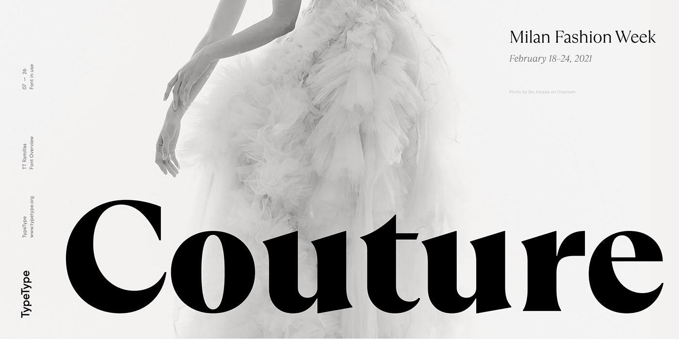 时尚海报标题文字设计衬线英文字体素材 Ramillas Typeface插图(8)