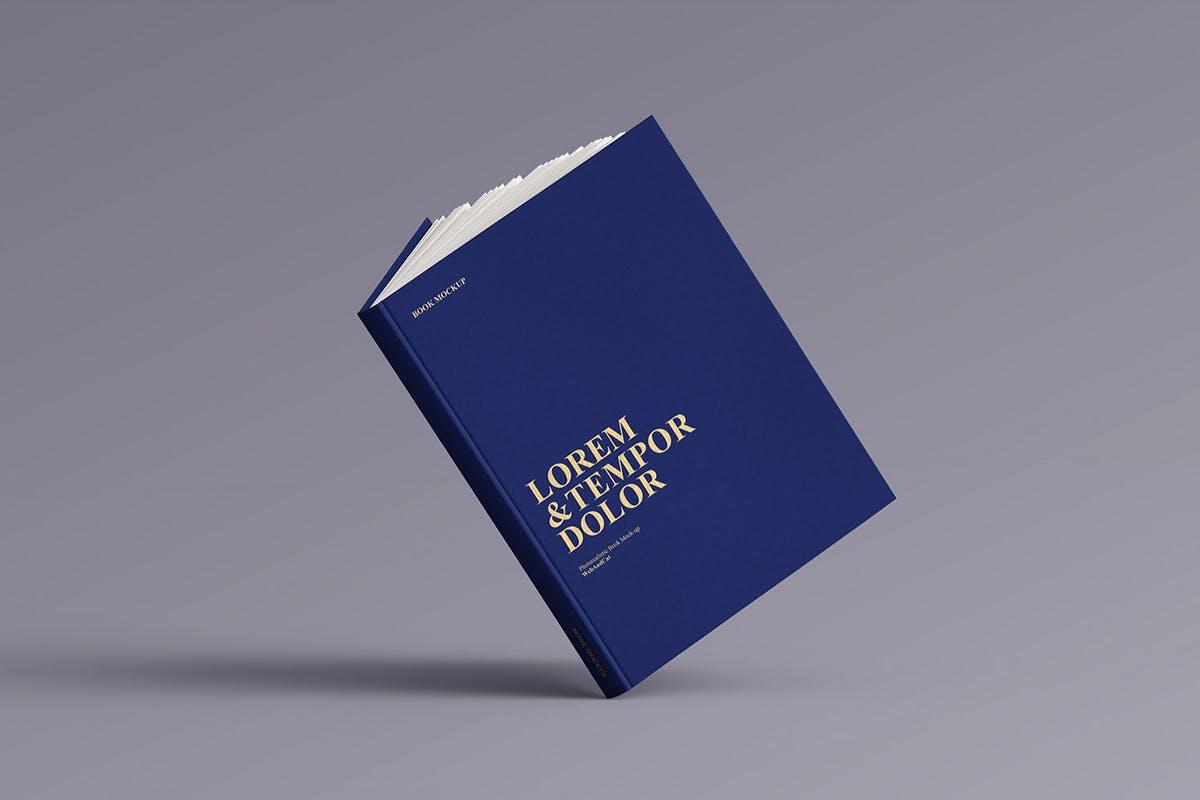 12款逼真封面烫金效果精装书画册设计展示智能贴图样机模板 Book Mockup插图(9)