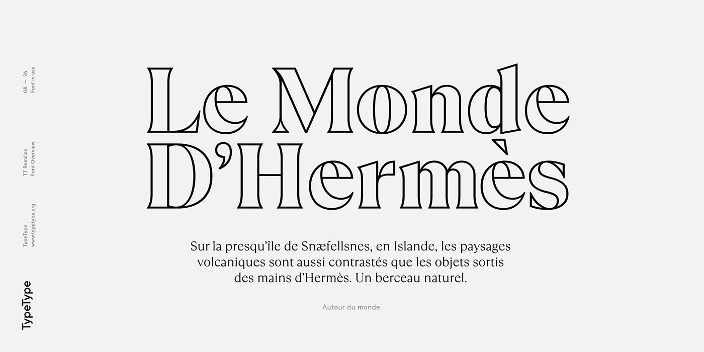 时尚海报标题文字设计衬线英文字体素材 Ramillas Typeface插图(9)