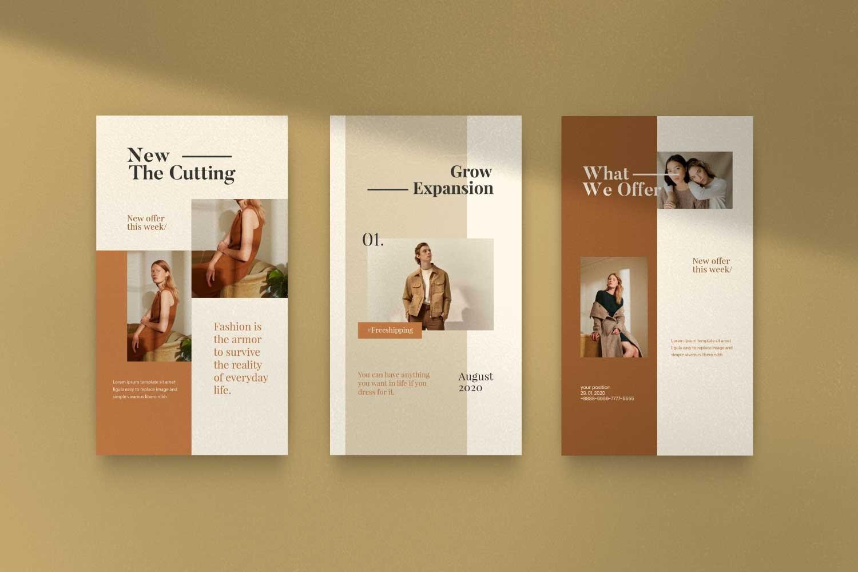 现代时尚服装品牌摄影推广新媒体电商海报模板 Soffie – Fashion Brand Social Media插图(11)
