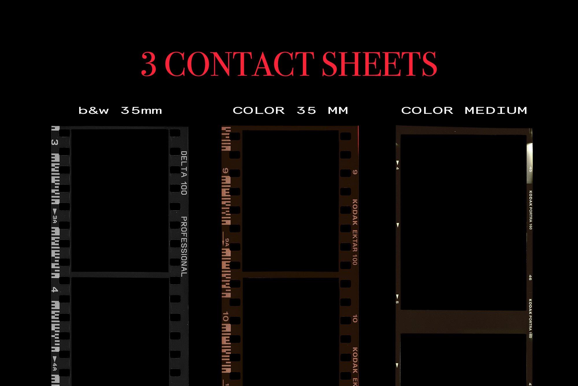 [淘宝购买] 潮流老式胶片胶卷边框图层叠加样机PS设计素材 Contact Sheet Film Roll Mockup插图(9)