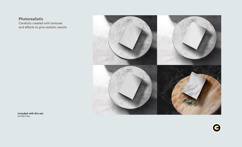 22款精装书画册封面设计展示样机PSD模板 Book Cover Mockups Pack插图(11)