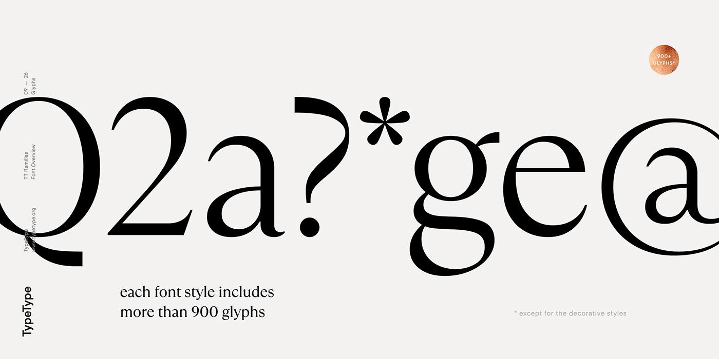 时尚海报标题文字设计衬线英文字体素材 Ramillas Typeface插图(10)