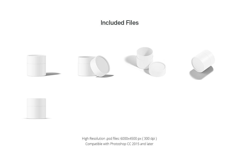 茶叶产品纸管包装罐设计展示贴图样机模板合集 Paper Tube Mockup Set 1插图(12)