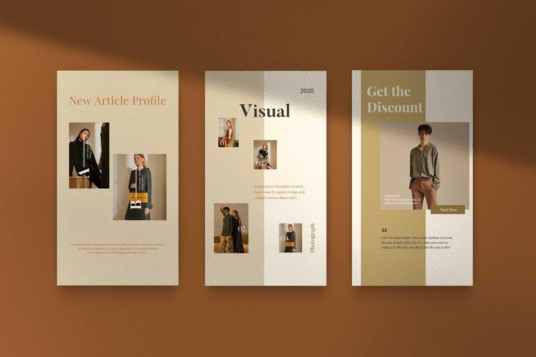 现代时尚服装品牌摄影推广新媒体电商海报模板 Soffie – Fashion Brand Social Media插图(13)