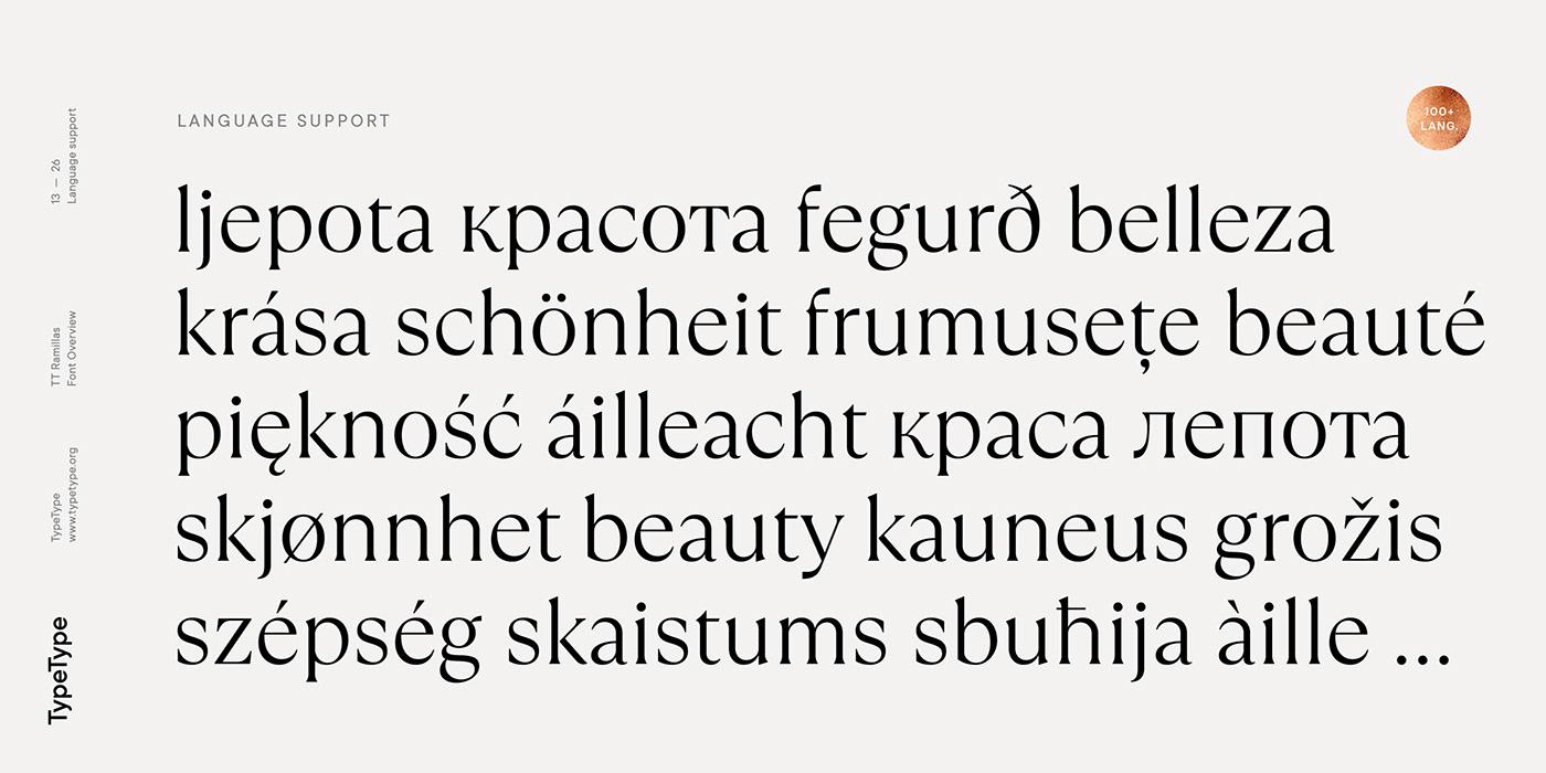 时尚海报标题文字设计衬线英文字体素材 Ramillas Typeface插图(12)