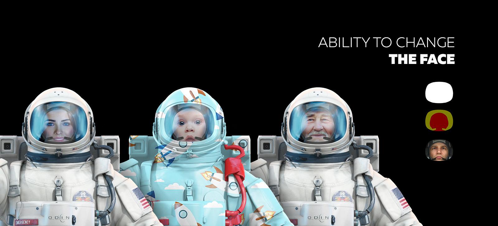 16款多角度太空宇航员3D模型平面设计PS素材源文件 3D Mockup Space Astronaut #14插图(2)