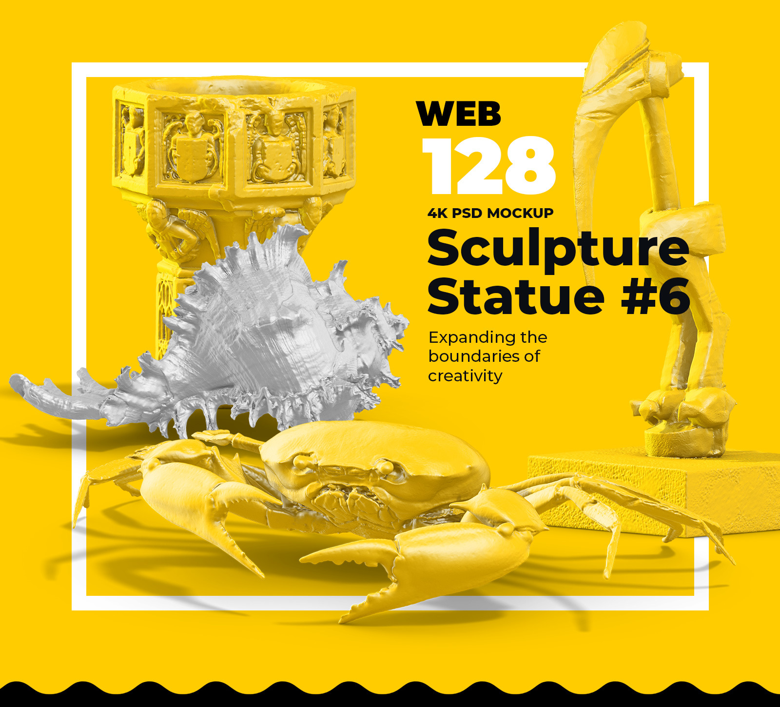 [淘宝购买] 128款多角度复古蒸汽波3D动物石膏雕塑PS设计素材 Collection Of 128 Sculptures Statue插图