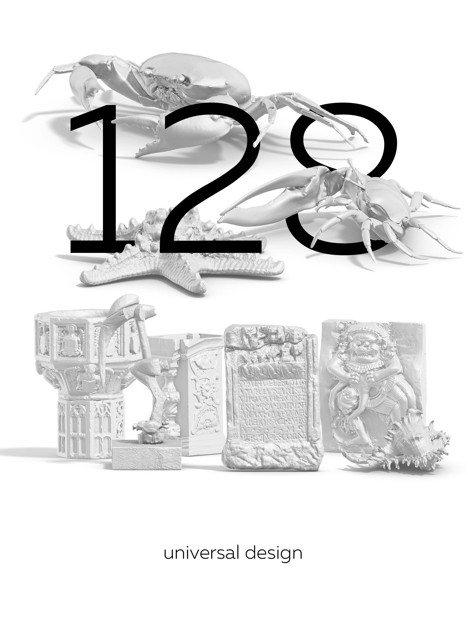 [淘宝购买] 128款多角度复古蒸汽波3D动物石膏雕塑PS设计素材 Collection Of 128 Sculptures Statue插图(7)