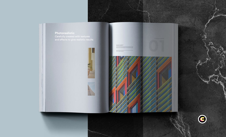 22款精装书画册封面设计展示样机PSD模板 Book Cover Mockups Pack插图(15)