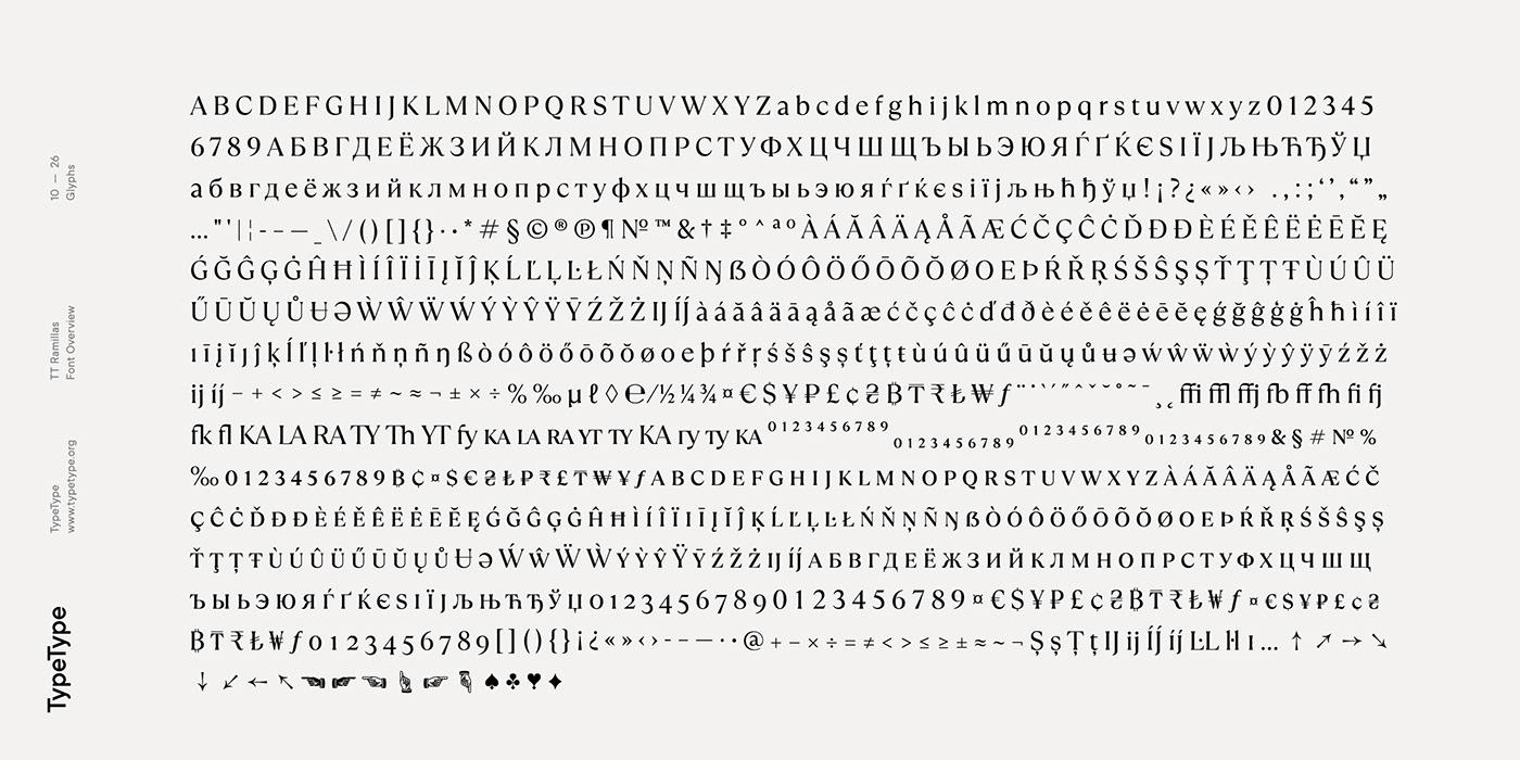 时尚海报标题文字设计衬线英文字体素材 Ramillas Typeface插图(14)