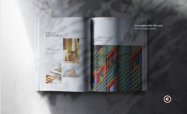 22款精装书画册封面设计展示样机PSD模板 Book Cover Mockups Pack插图(16)
