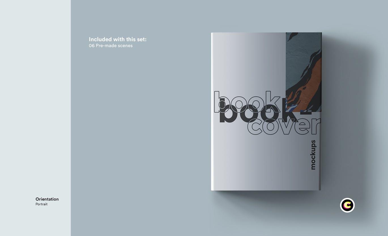 22款精装书画册封面设计展示样机PSD模板 Book Cover Mockups Pack插图(17)