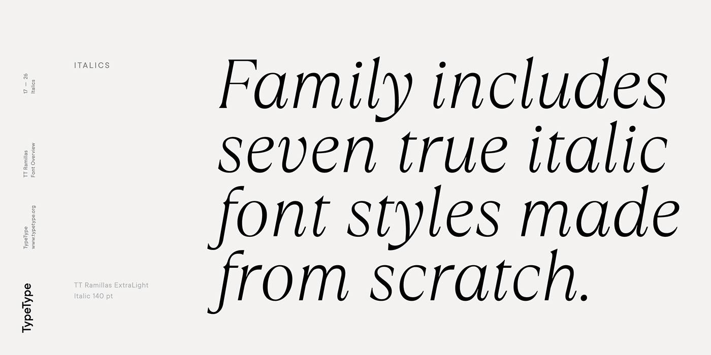 时尚海报标题文字设计衬线英文字体素材 Ramillas Typeface插图(16)