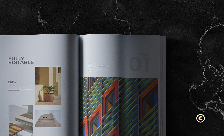 22款精装书画册封面设计展示样机PSD模板 Book Cover Mockups Pack插图(18)