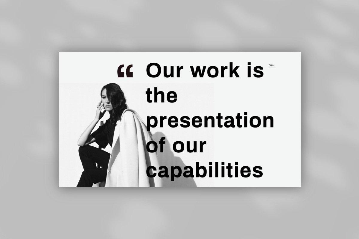 黑白调摄影作品集设计演示文稿模板 Solasta – Powerpoint插图(1)
