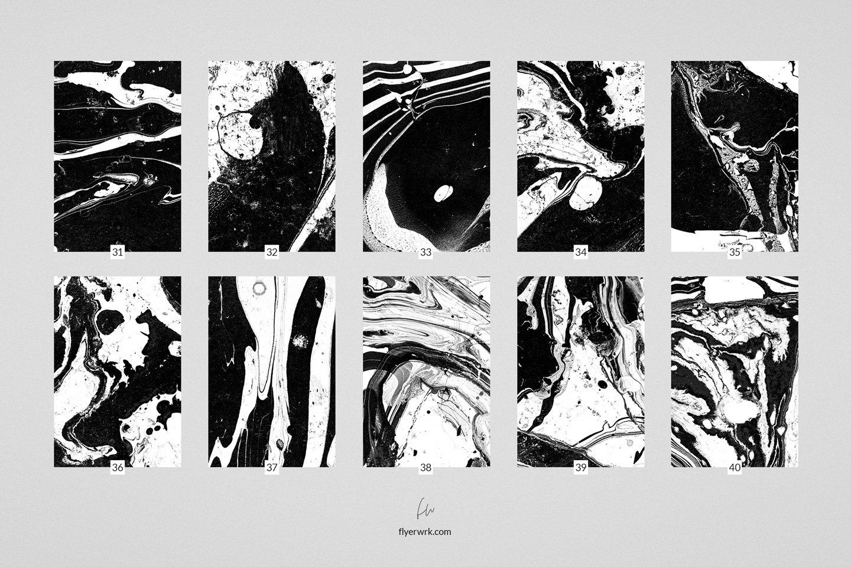 50款高清抽象大理石液体海报设计底纹背景图片素材 Marmor – 50 Abstract Marble textures插图(1)