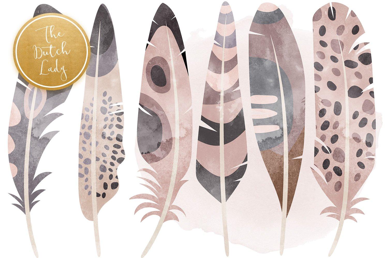 23款高清羽毛小鸟数字剪贴画PNG免抠图片素材 Birds & Feathers Clipart Set插图(1)