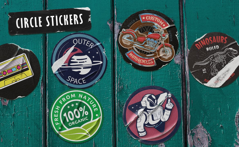 17款褶皱破裂不干胶标签设计展示样机模板 Peeled Sticker Mockup插图(1)