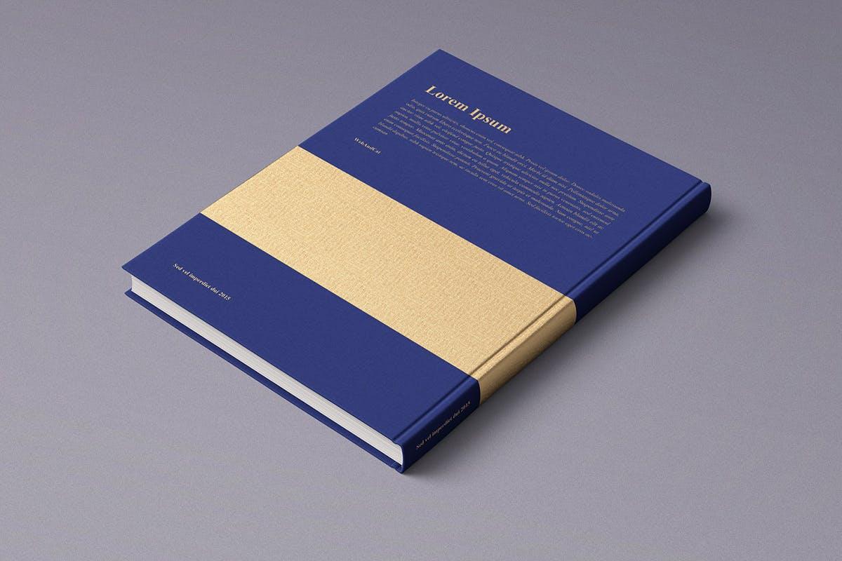 12款逼真封面烫金效果精装书画册设计展示智能贴图样机模板 Book Mockup插图(1)