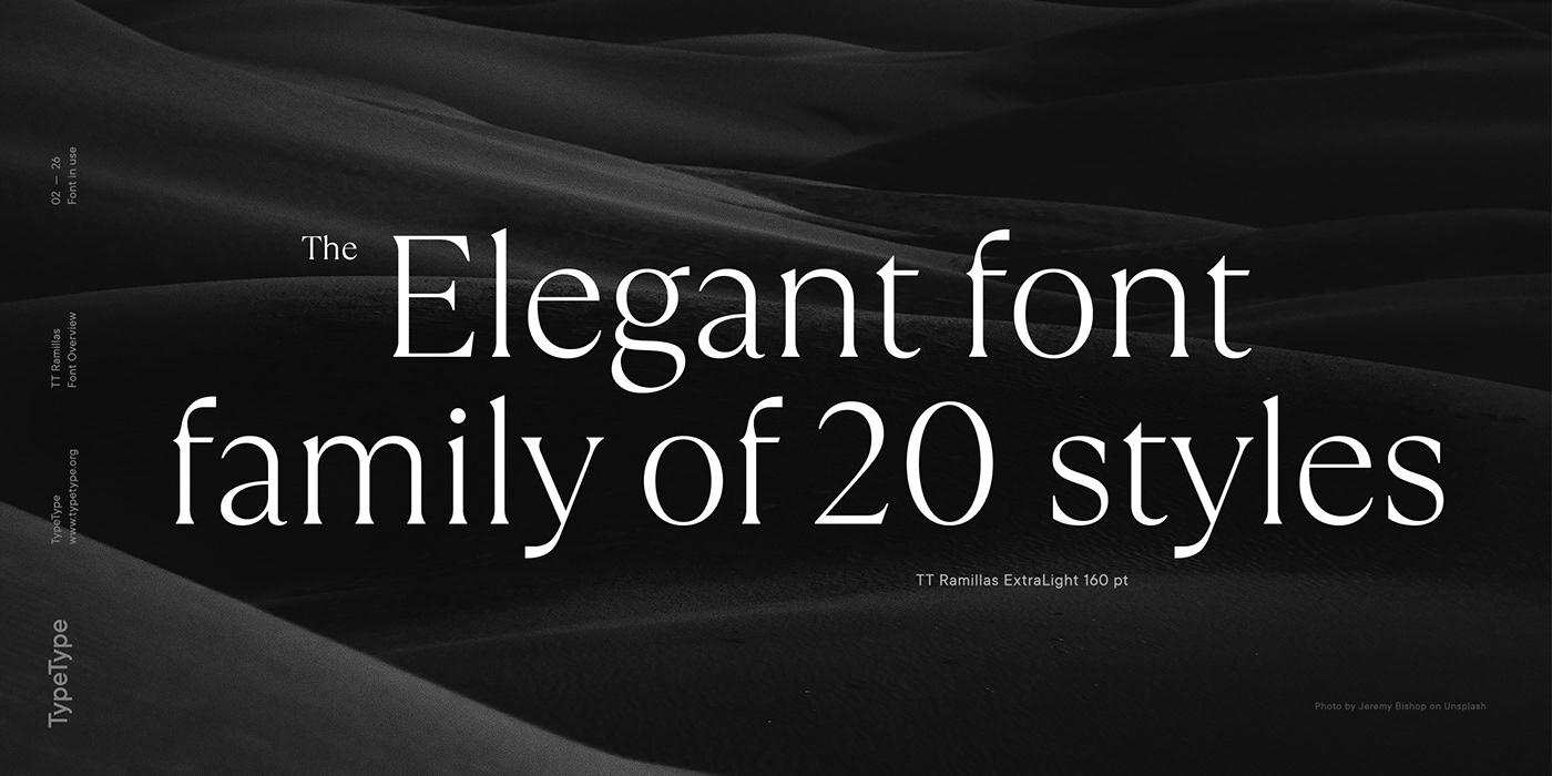 时尚海报标题文字设计衬线英文字体素材 Ramillas Typeface插图(1)