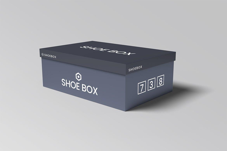 极简鞋盒设计展示贴图样机模板 Shoe Box Mockups Vol 01插图(1)
