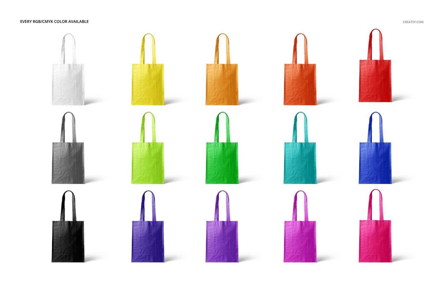 时尚编织手提购物袋设计展示贴图样机模板合集 Woven Tote Bag Mockup Set插图(2)