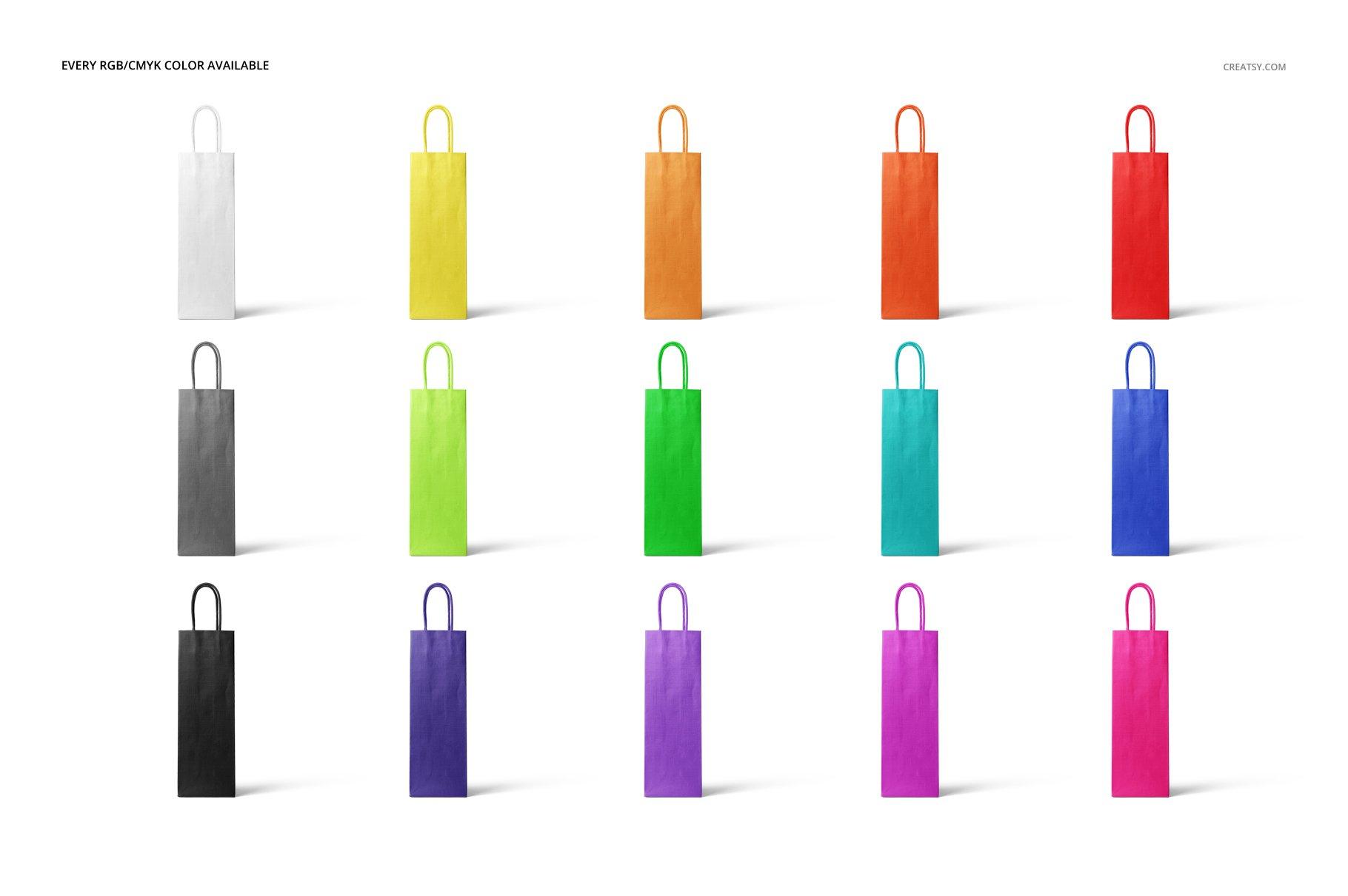 [淘宝购买] 精美葡萄酒手提袋设计展示贴图样机套装 Eurotote Wine Tote Bag Mockup Set插图(2)