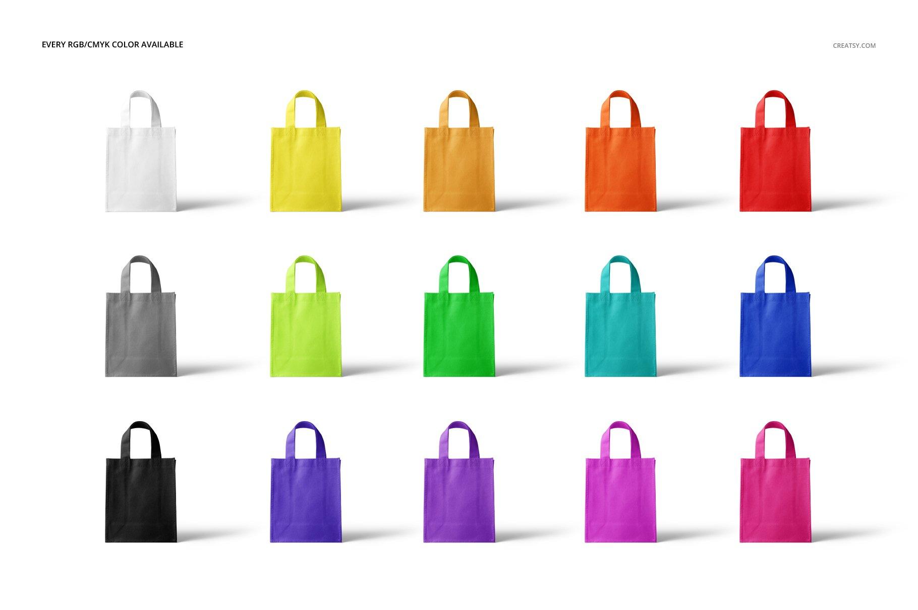 [淘宝购买] 无纺布袋手提袋设计展示样机模板套装 Non-Woven Tote Bag Mockup Set插图(2)