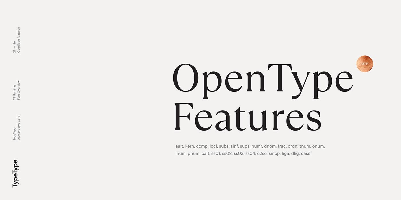 时尚海报标题文字设计衬线英文字体素材 Ramillas Typeface插图(18)