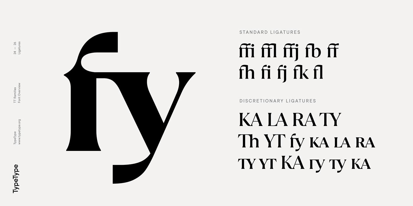 时尚海报标题文字设计衬线英文字体素材 Ramillas Typeface插图(19)