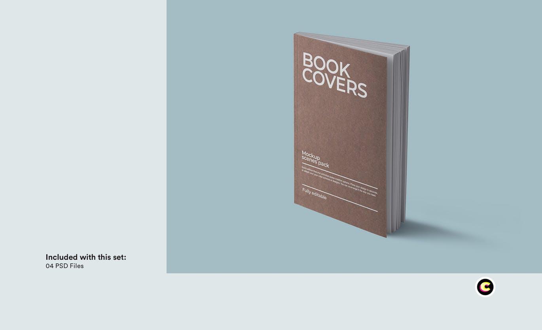 22款精装书画册封面设计展示样机PSD模板 Book Cover Mockups Pack插图(21)
