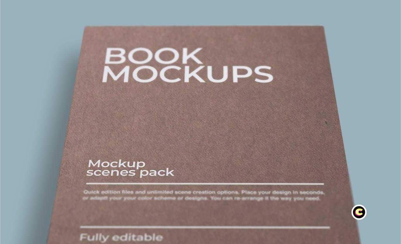 22款精装书画册封面设计展示样机PSD模板 Book Cover Mockups Pack插图(23)