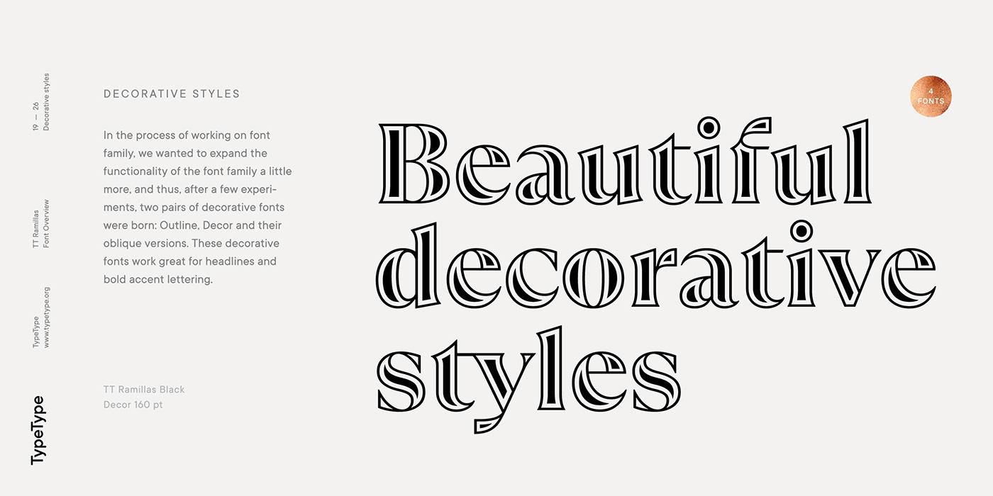 时尚海报标题文字设计衬线英文字体素材 Ramillas Typeface插图(23)