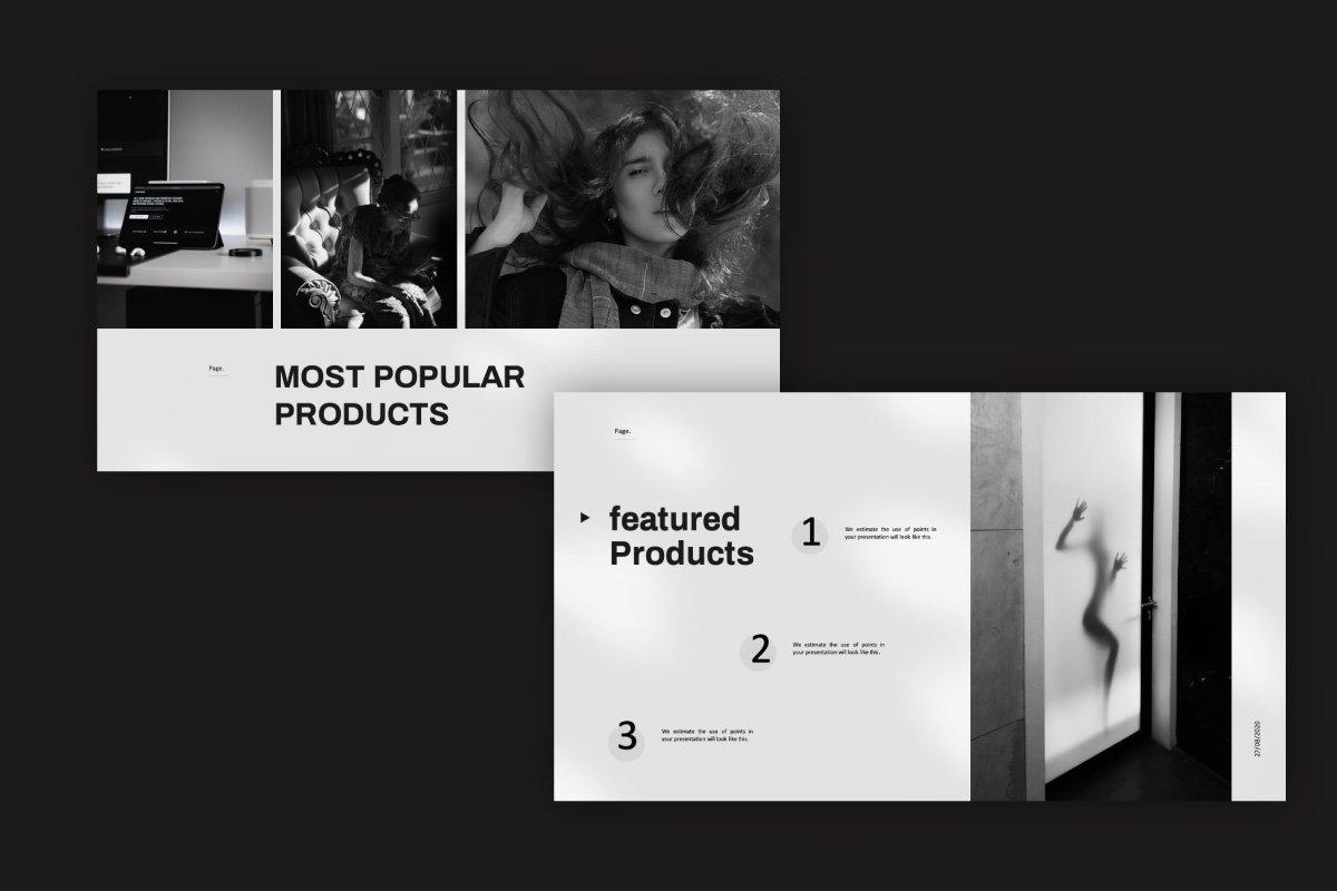 黑白调摄影作品集设计演示文稿模板 Solasta – Powerpoint插图(2)
