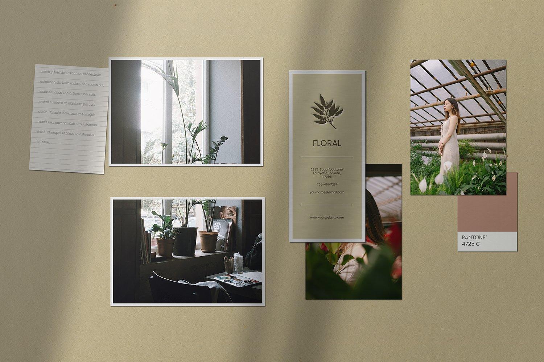 潮流剪贴相片情绪版卡片设计展示样机PSD模板 Moodboard Mockup Kit插图(2)