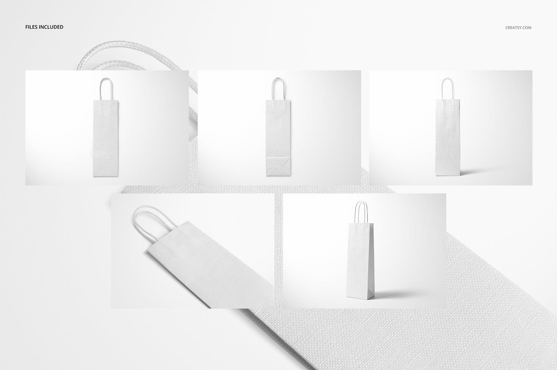 [淘宝购买] 精美葡萄酒手提袋设计展示贴图样机套装 Eurotote Wine Tote Bag Mockup Set插图(3)