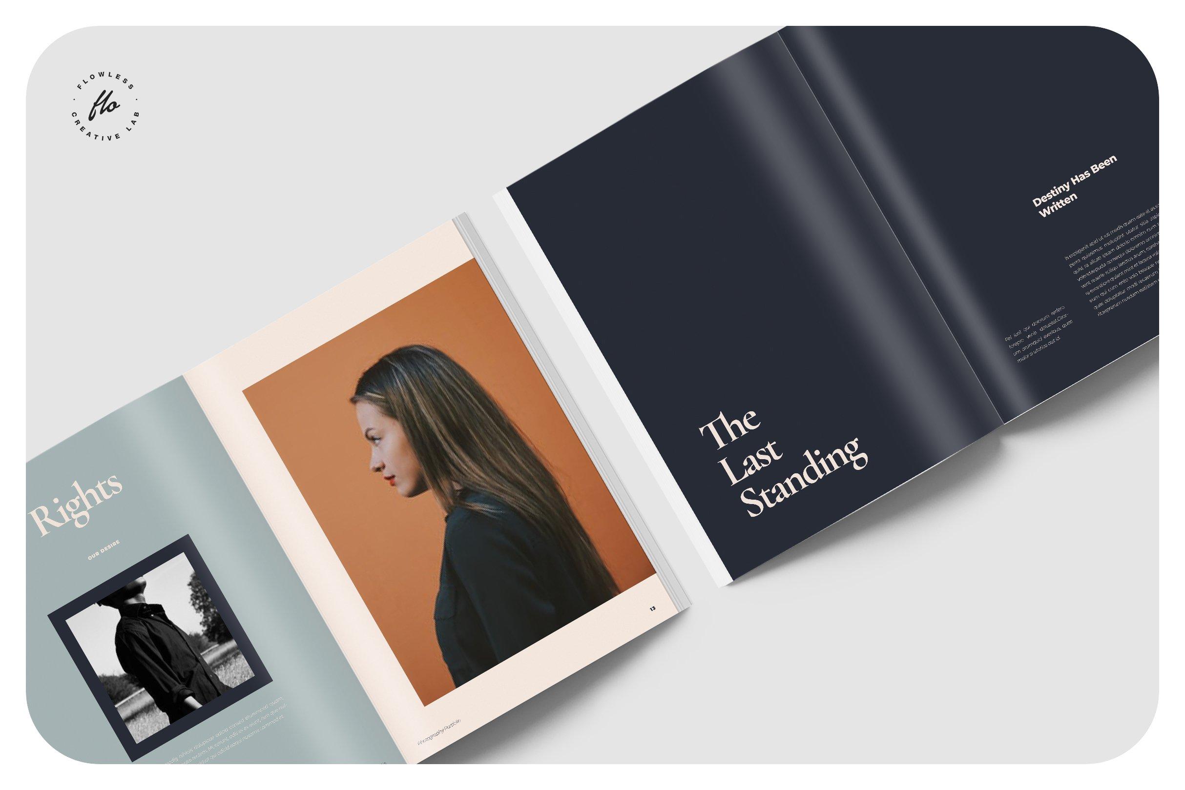 现代优雅摄影作品集图文排版设计INDD画册模板 BALLARD Photography Portfolio插图(2)