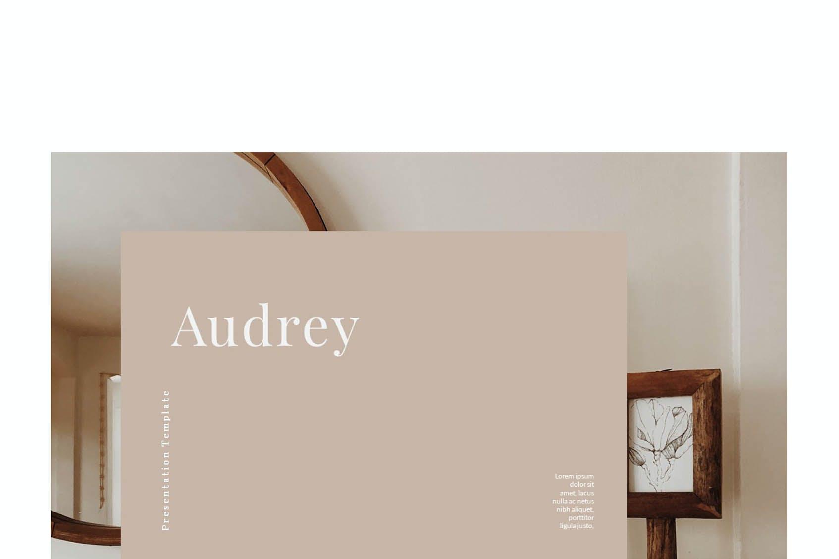 时尚简约摄影作品集图文排版设计演示文稿模板 Audrey – Powerpoint Template插图(2)