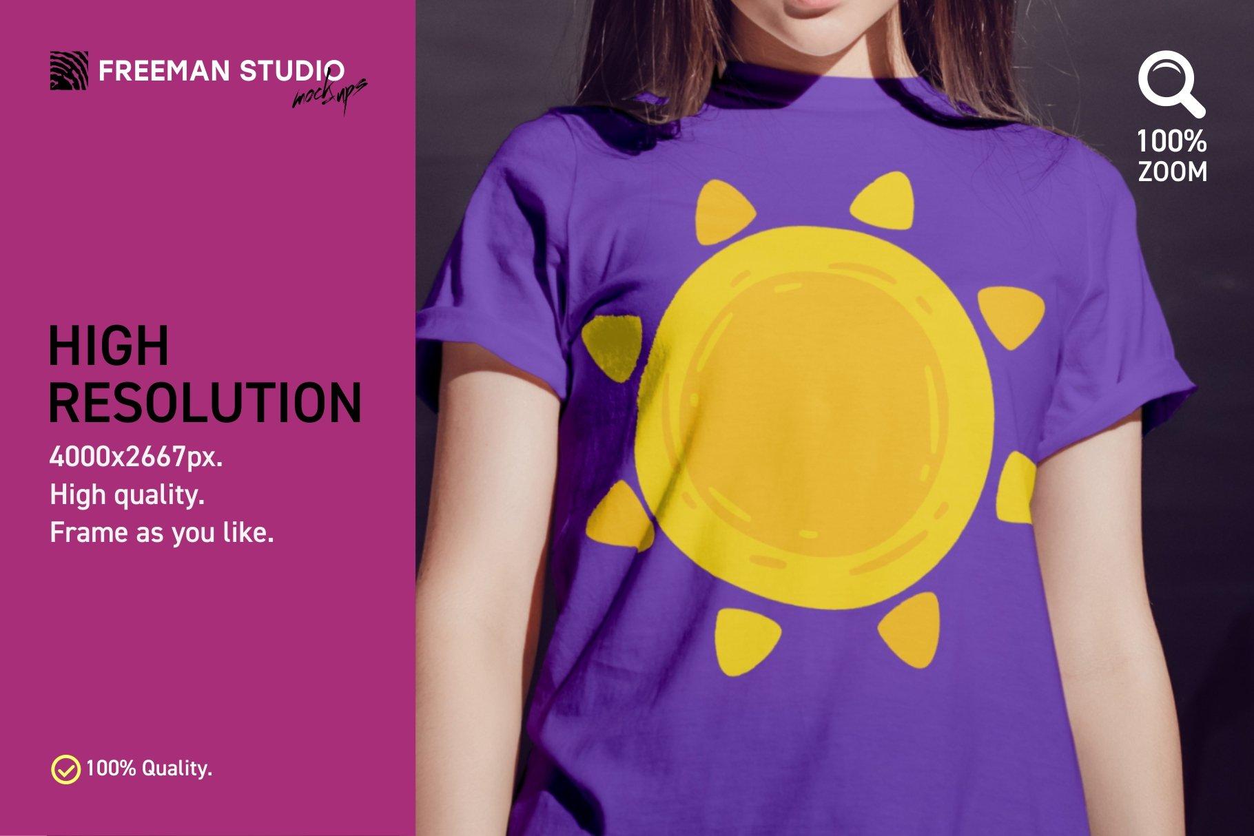 青少年T恤半袖衫印花图案设计展示样机合集 Teenager T-Shirt Mockup Set插图(3)