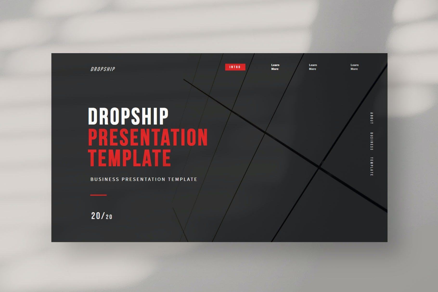 简约服装摄影作品集演示文稿设计模板 Dropship – Powerpoint Template插图(2)