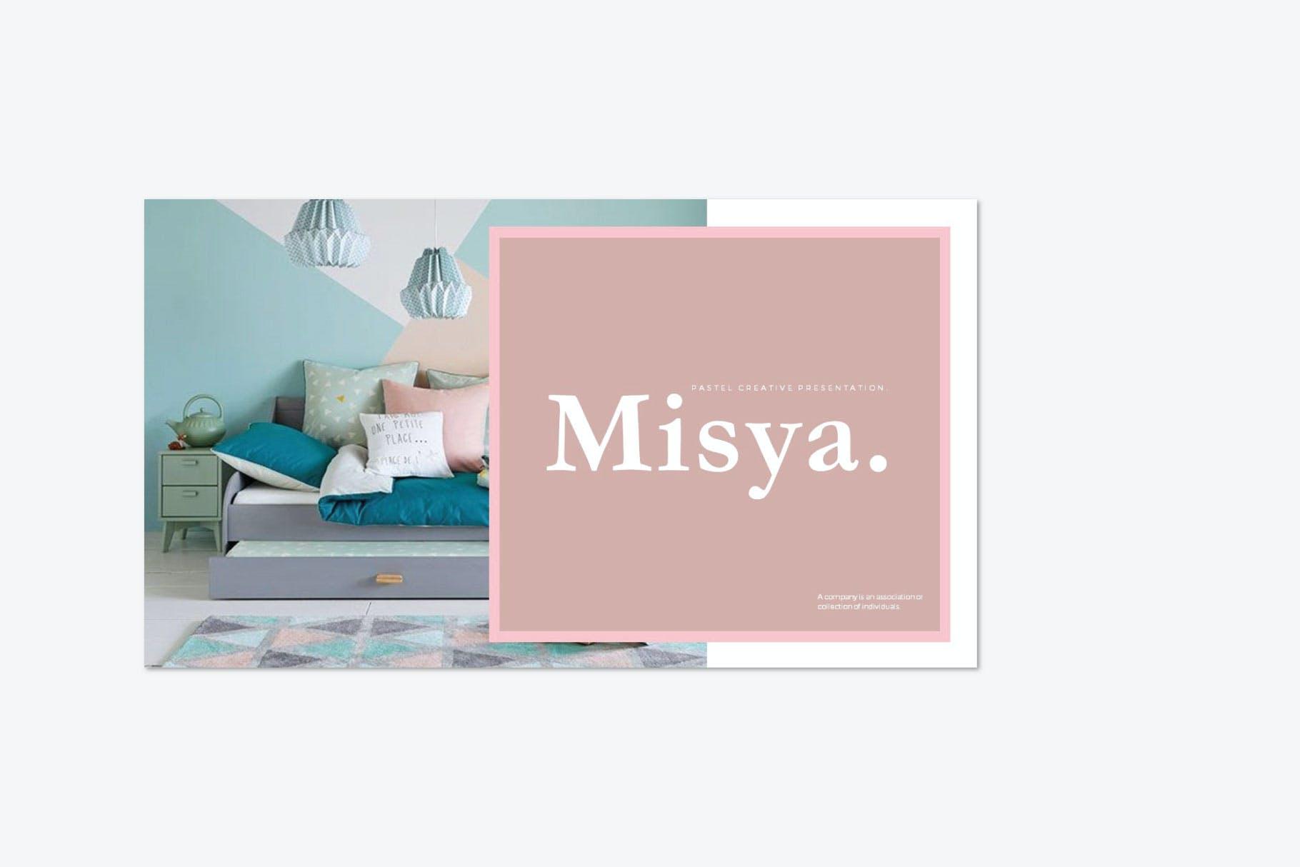 时尚多彩策划案图文排版设计演示文稿模板 Misya – Powerpoint Template插图(2)