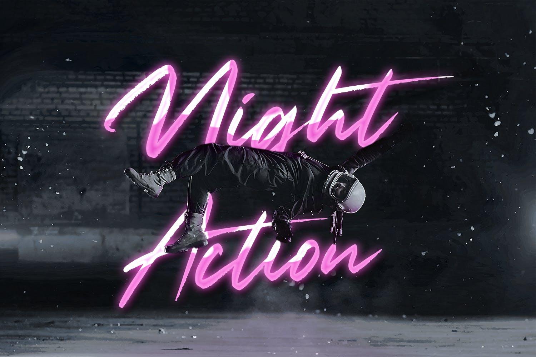 现代未来派手写英文字体素材 Neon Planet – Display Font Duo插图(2)