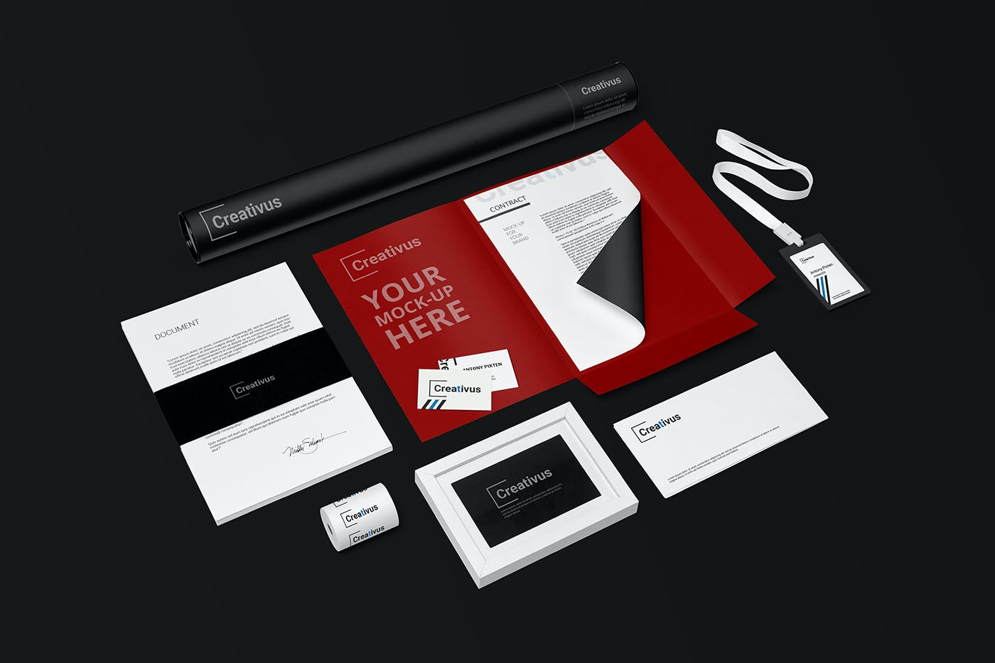 7款品牌LOGO设计办公用品展示贴图样机 Branding Stationery Mockup插图(2)