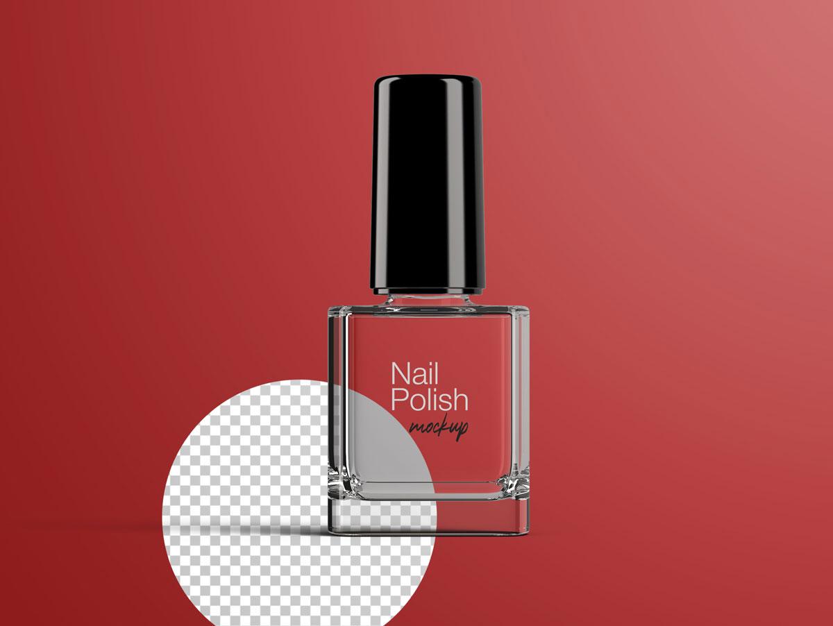 8款指甲油玻璃包装瓶设计展示样机模板 Nail Polish Bottle Mockup Pack插图(6)